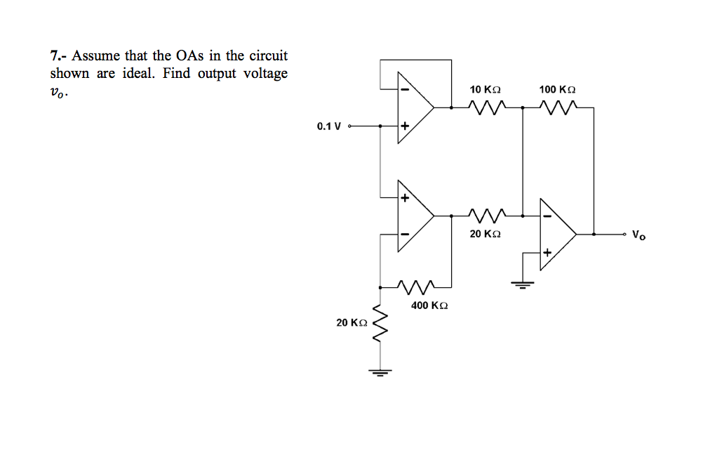 Assume that the OAs in the circuit shown are ideal