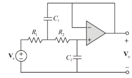For the circuit shown in Fig 7 with R1 = 1k?, R2 =