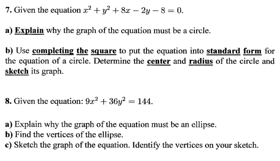 Solved Given The Equation X2 Y2 8x 2y 8 0 A