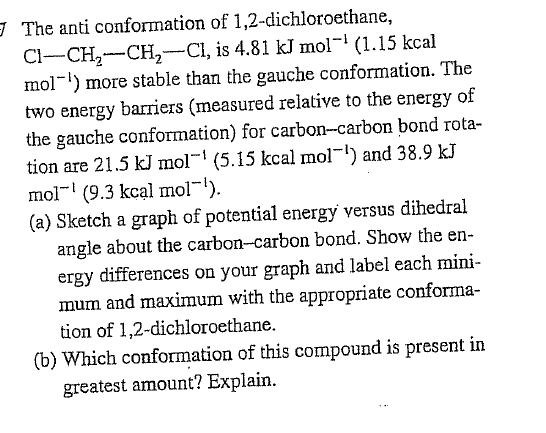 The anti conformation of 1,2-dichloroethane, Cl-C