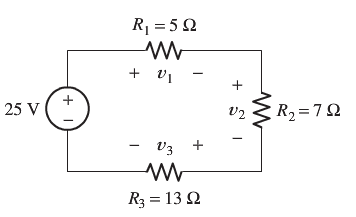 Use the voltage-division principle to calculate v1