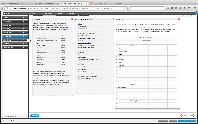 Prepare A Classified Balance Sheet That Includes T... | Chegg.com