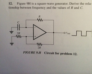 Figure 9H is a square-wave generator. Derive the r