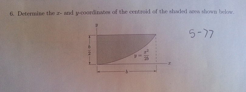 Determine the x- and y-coordinates of the centroid