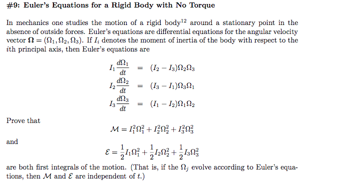 differential equations homework
