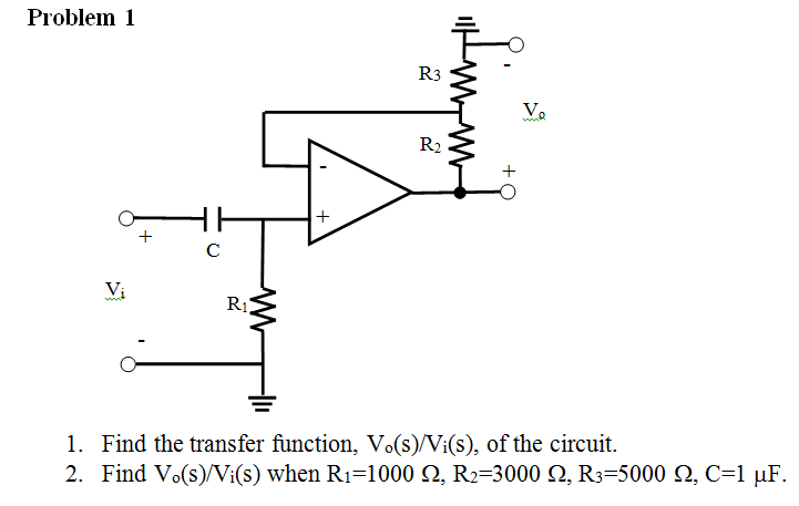 Find the transfer function, Vo(s)/Vi(s), of the ci