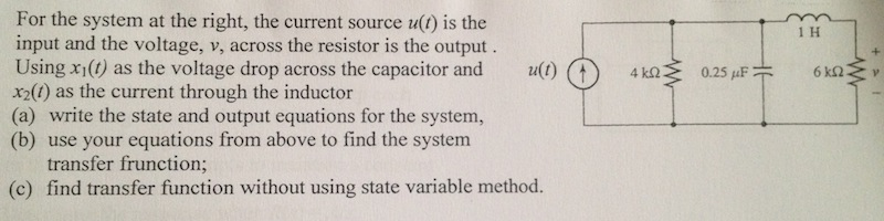For the system shown: the current source u(t) is t
