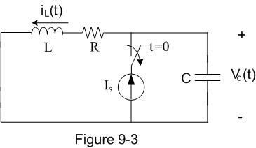 In the circuit shown in Figure 9-3, Is=5 A, L=0.