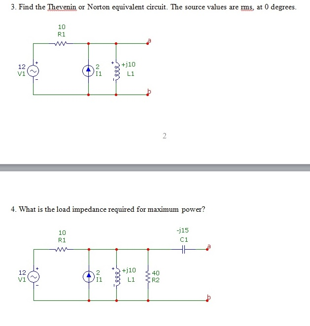 Find the Thevenin or Norton equivalent circuit. Th