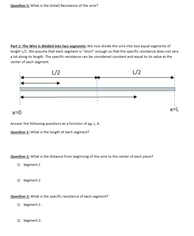 Solved in this worksheet you will directly find the exact question in this worksheet you will directly find the exact resistance result by cutting the wire into an greentooth Gallery