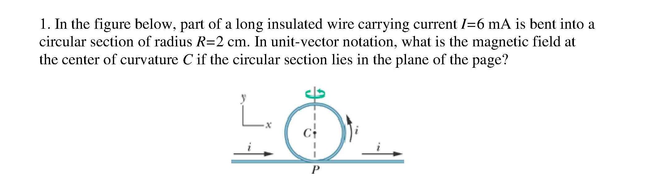 Solved: In The Figure Below, Part Of A Long Insulated Wire ...