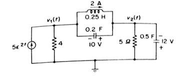 Draw the transform domain equivalent circuit in a