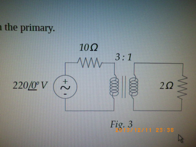 For the circuit in Figure 3 determine the current