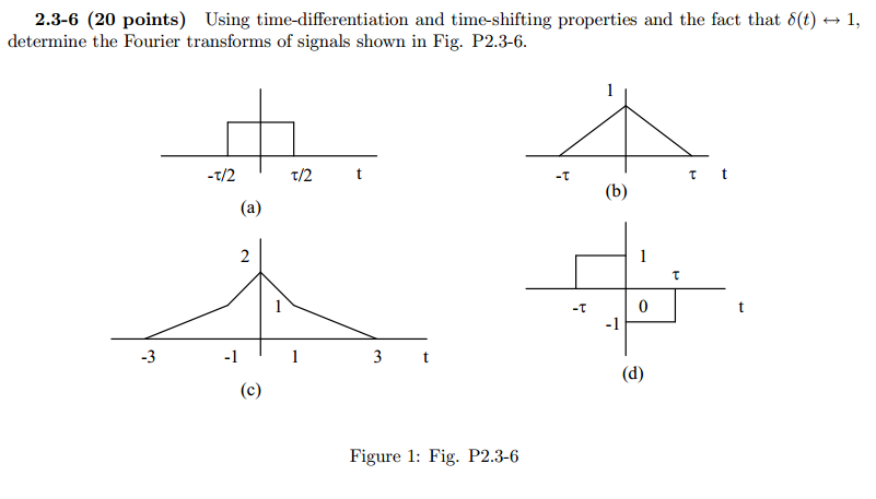 Using time-differentiation and time-shifting prope