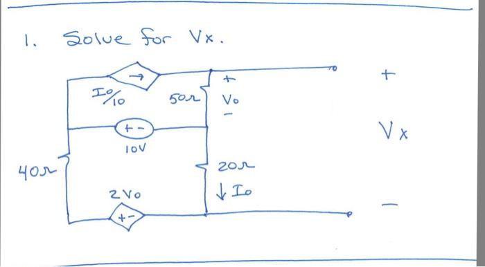 Solve for V_x