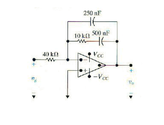 The operational amplifier in the circuit is ideal.
