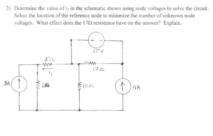 Determine the value of i1 in the schematic shown u