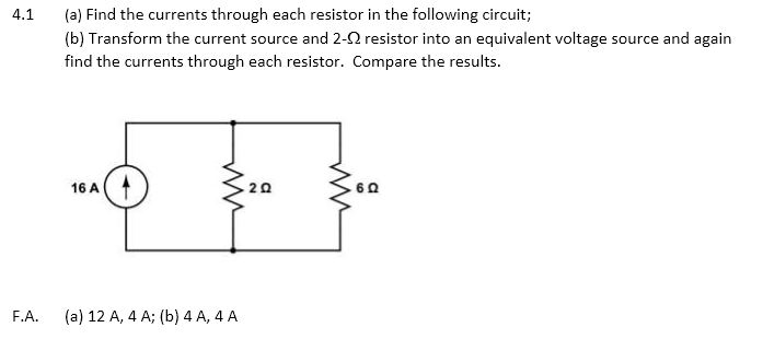 Find the currents through each resistor in the fol