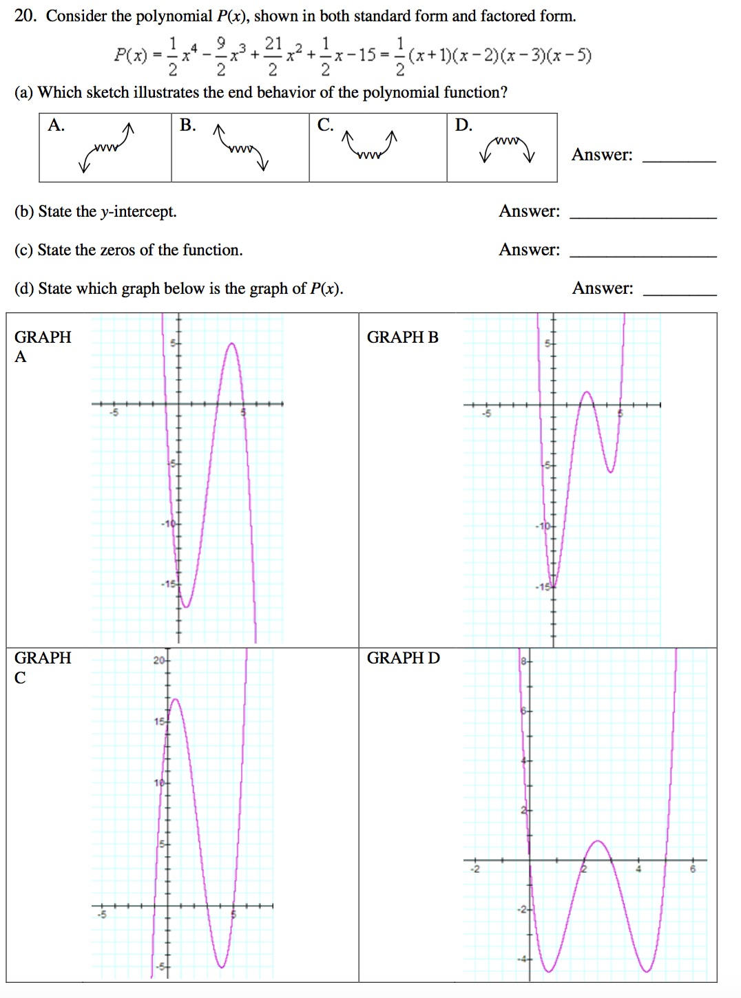 Consider the polynomial px shown in both standa chegg consider the polynomial px shown in both standa falaconquin