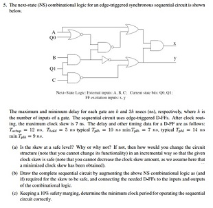 The (NS) combinational logic for an edge synchro