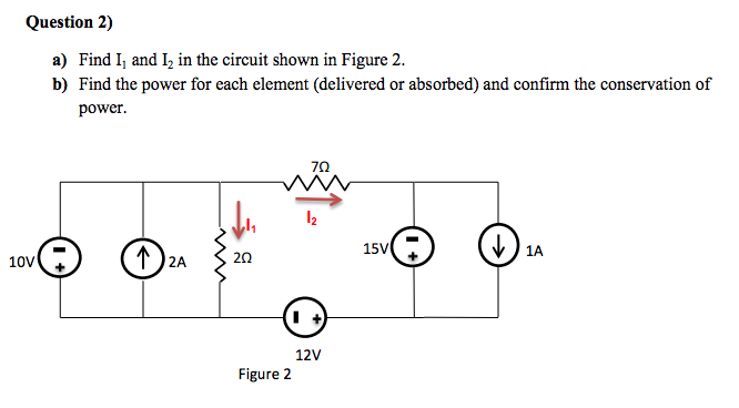 Find I1 and I2 in the circuit shown in Figure 2 Fi