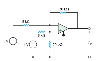 Find Vo in the circuit in the figure below.