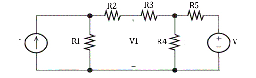 Find voltage V1 and power