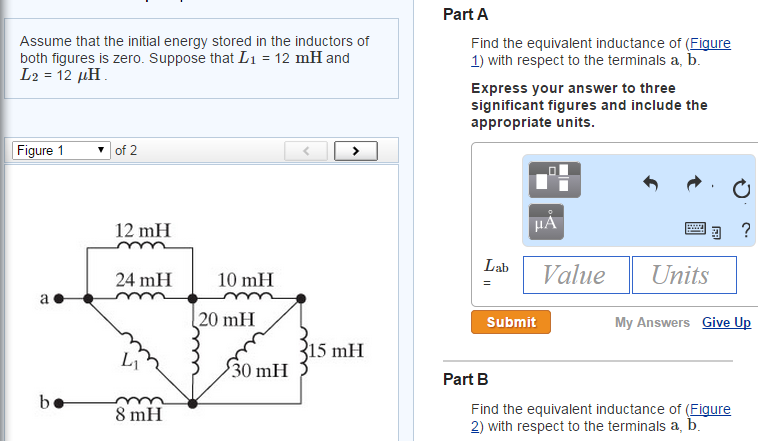 how to find initial energy