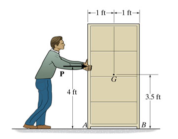Determine the acceleration of the 140-lb cabinet a