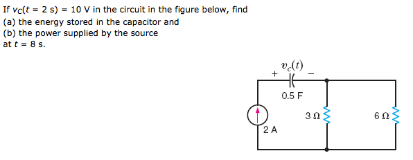 If vtft = 2 s) = 10 V in the circuit in the figure