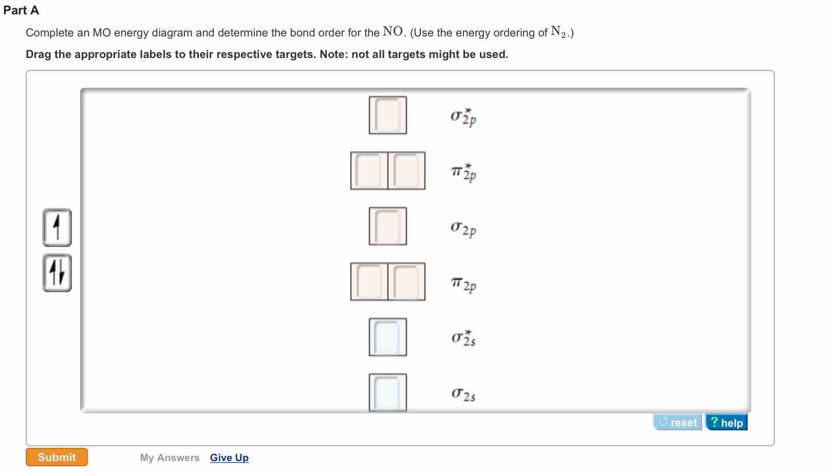 Solved complete an mo energy diagram and determine the bo complete an mo energy diagram and determine the bo pooptronica