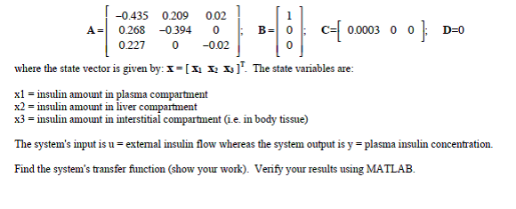 where tlie state vector is given by: X = [ X1 X2 X