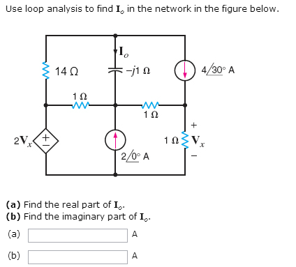 Use loop analysis to find I0 in the network in the