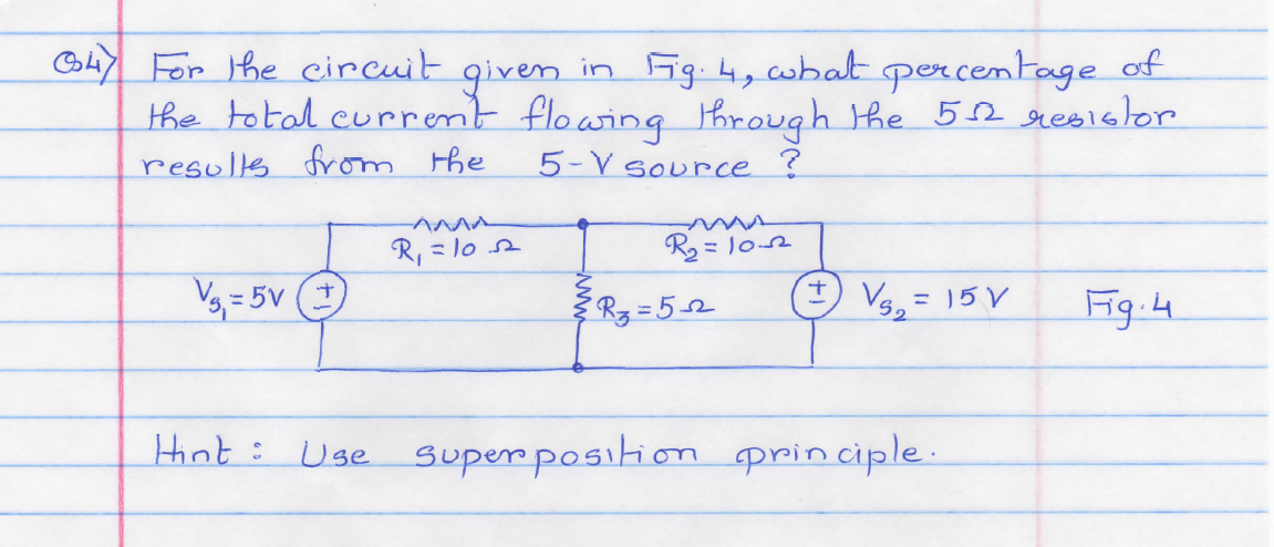 For the circuit given in Fig.4,what percentage of