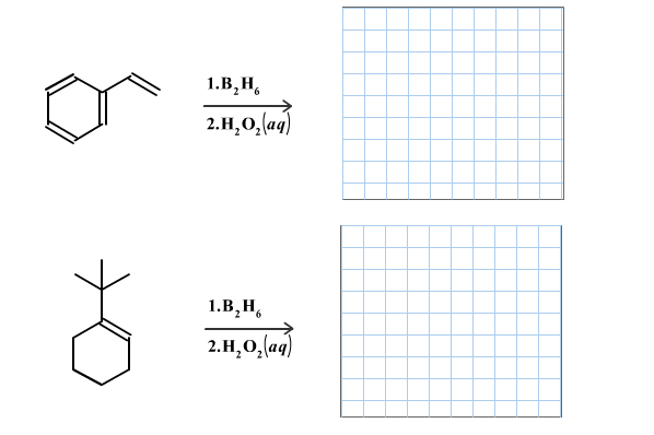 Draw the major organic product for each of the fol