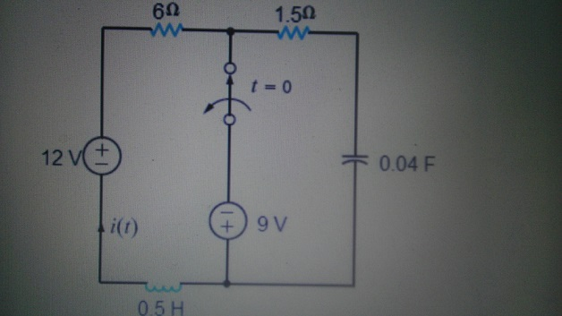 The switch in the circuit in the accompanying Figu