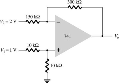 Determine the output voltage for the circuit of