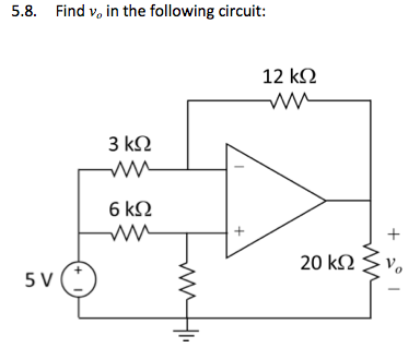 Find v0 in the following circuit: