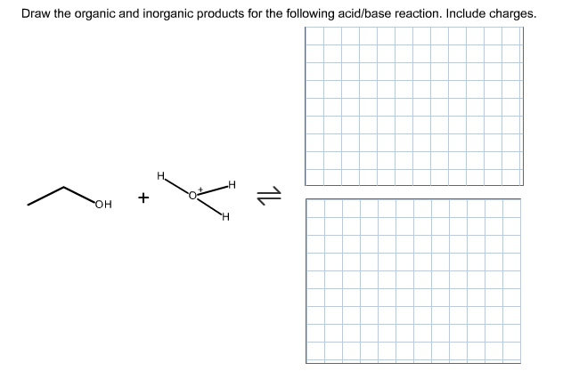 Draw the organic and inorganic products for the fo