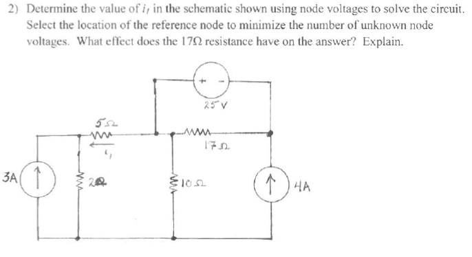 Determine the value of i t, in the schematic shown
