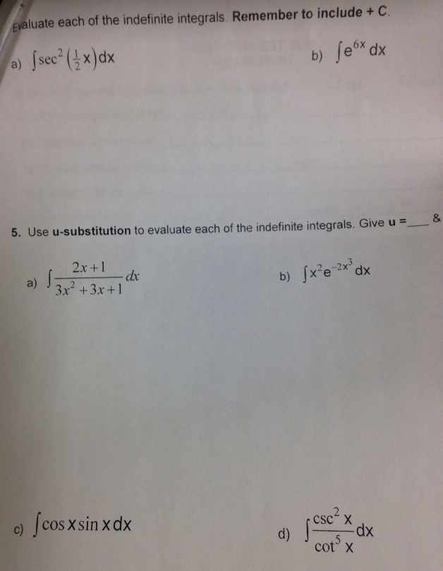 Solved: Evaluate Each Of The Indefinite Integrals. Remembe... | Chegg.com