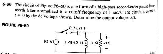 The circuit of Figure P6-50 is one form of a high