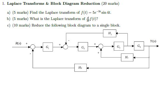 Electrical engineering archive january 22 2018 chegg laplace transforms block diagram reduction 20 marks a 5 ccuart Gallery