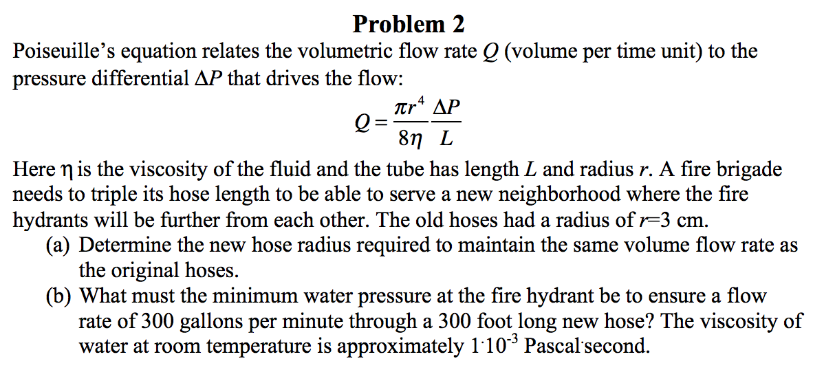 Solved poiseuille s equation relates the volumetric flow