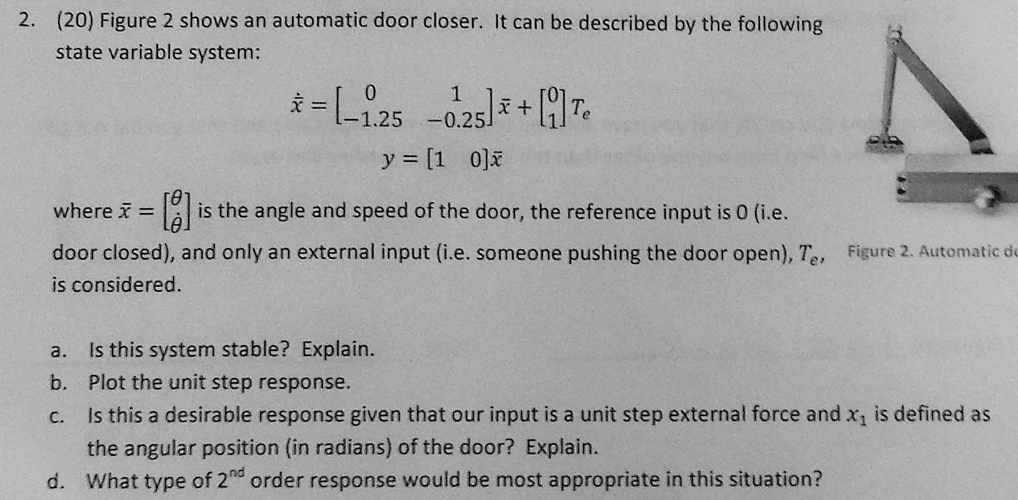 Figure 2 shows an automatic door closer. It can be