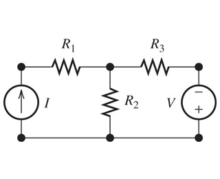 Find the mesh currents in the circuit shown in the