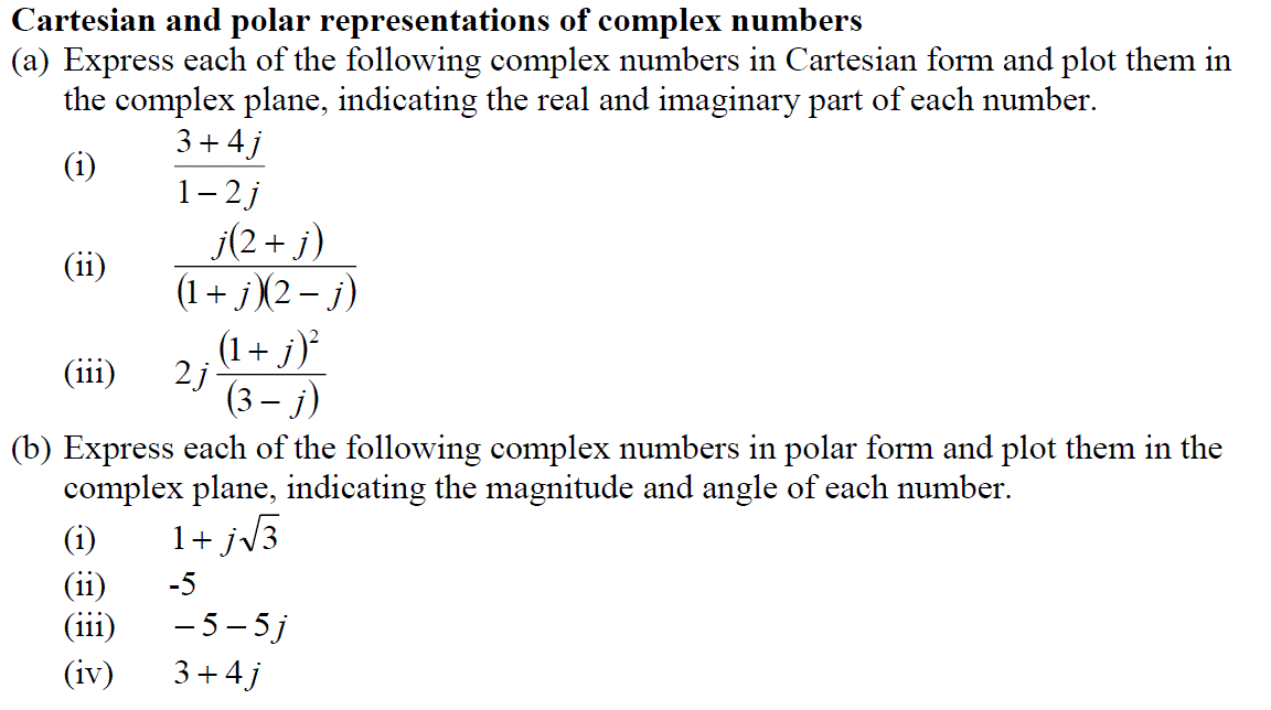 Cartesian And Polar Representations Of Complex Num... | Chegg.com