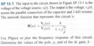 he input to the circuit shown in Figure SP 13 - 1