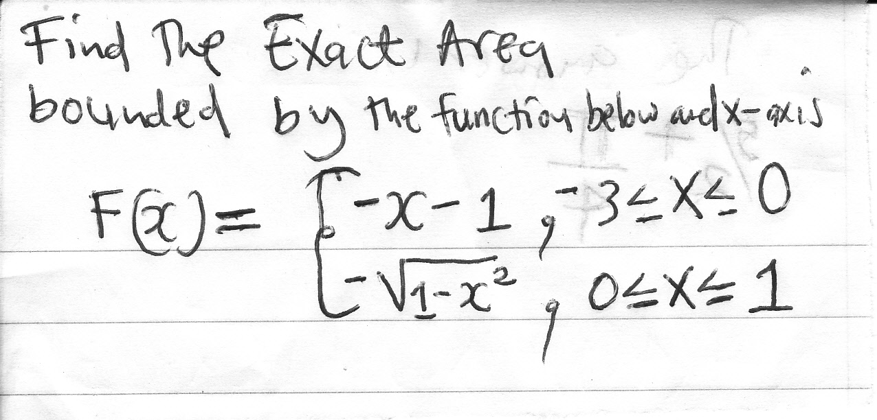 how to find exact area