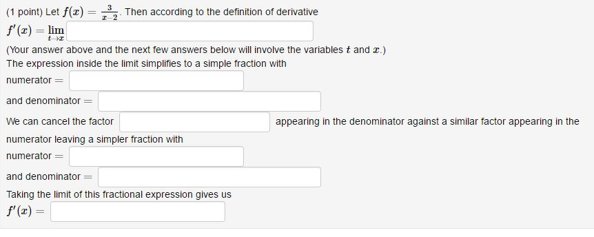 (1 Point) Let F(z Then According To The Definition Of Derivative Z